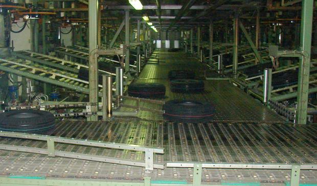 конвейер с готовыми шинами