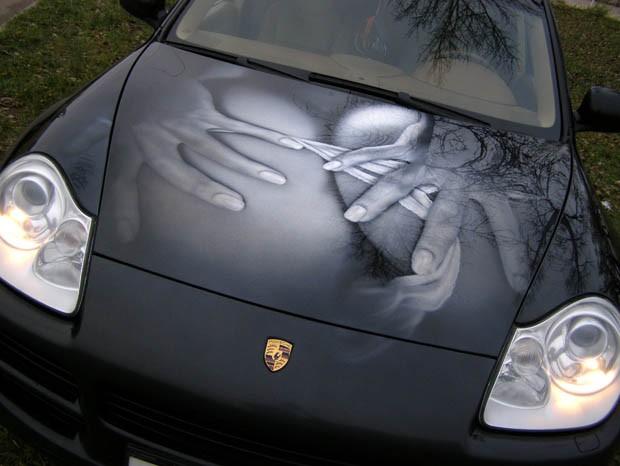 рисунки на автомобилях аэрография фото