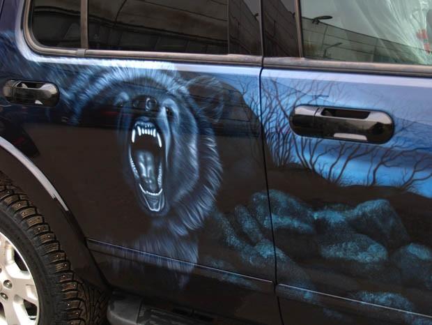 аэрография медведь
