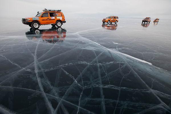 Экспедиция-Трофи на льду Байкала