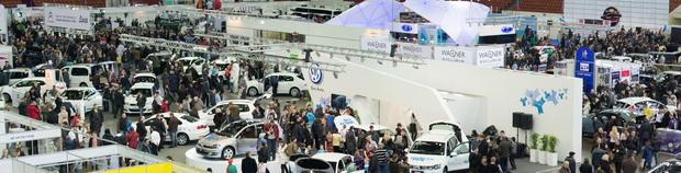 панорама выставки Мир Автомобиля