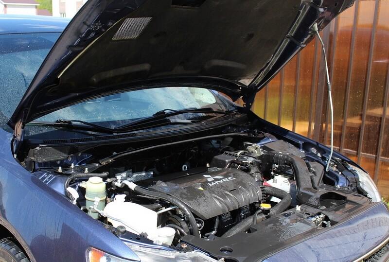 Вымытый двигатель