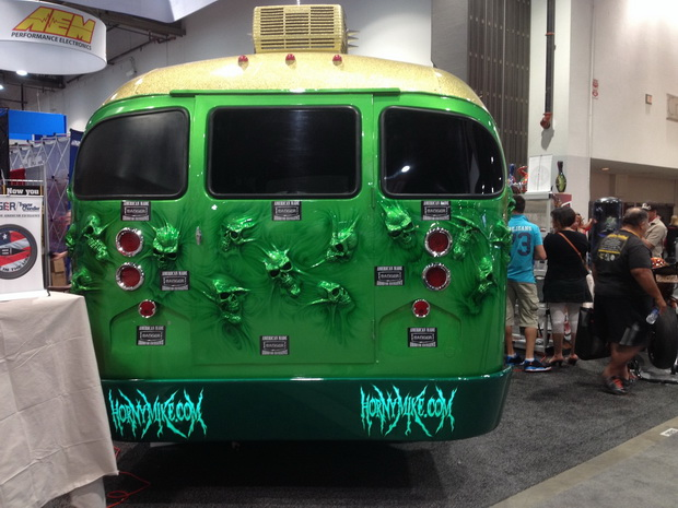 horror green bus
