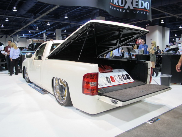 white pickup on SEMA 2013