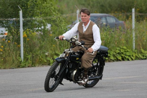 мотопробег на ретро-мотоциклах