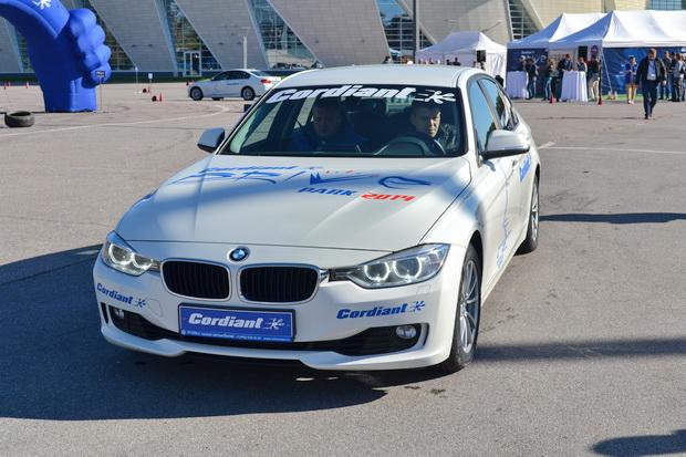 BMW обутая в Кордиант
