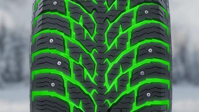 Агрессивный рисунок протектора с глубокими самоочищающимися при движении канавками