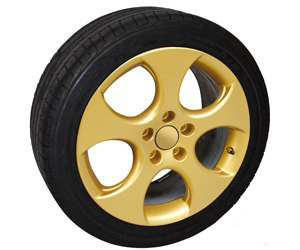 покрашенный колесный диск