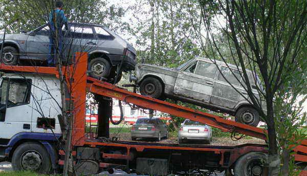 транспортировка машин на утилизацию