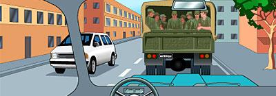 солдаты в грузовике