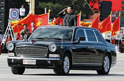 Си Цзиньпин ездит на лимузине FAW Hong Qi HQE