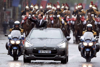 Франсуа Олланд на Citroen