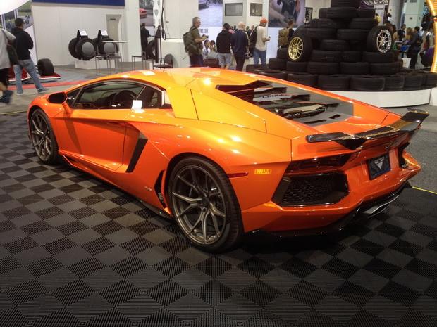 orange sportcar SEMA 2013