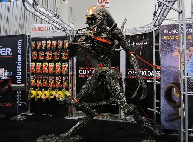 Alien made of steel SEMA 2013