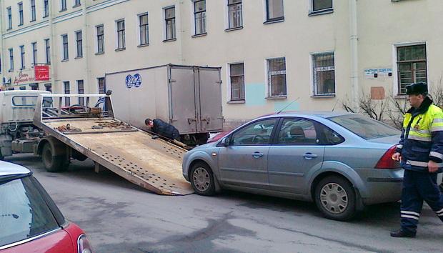 Эвакуация машин